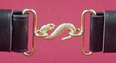 Snake /& Sword Metal Belt Buckle